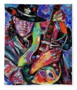 Hat And Guitar Fleece Blanket