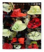 Hats In A Window Fleece Blanket