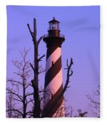 Hatteras Light And Tree Fleece Blanket