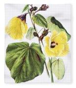 Hau Flower Art Fleece Blanket