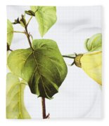 Hau Plant Art Fleece Blanket