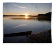 Haukkajarvi Evening Fleece Blanket