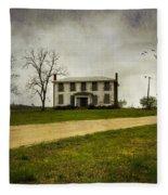 Haunted House On A Hill Fleece Blanket