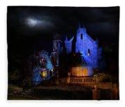 Haunted Mansion At Walt Disney World Fleece Blanket