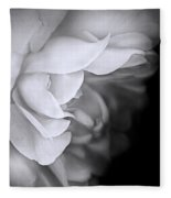 Haunting Beauty Monochrome Rose Fleece Blanket