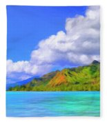 Hauru Point Moorea Fleece Blanket