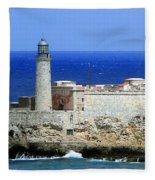 Havana Harbor Lighthouse Fleece Blanket