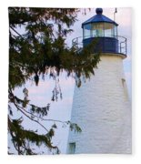Havre De Grace Lighthouse Fleece Blanket