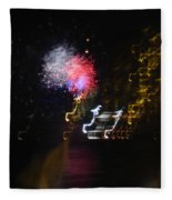 Hawaii Fireworks Fleece Blanket
