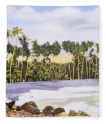 Hawaii Postcard Fleece Blanket