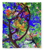 Hawaii Shower Tree Flowers In Abstract Fleece Blanket