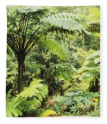 Hawaii Tropical Rainfores Fleece Blanket