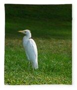 Hawaiian Cattle Egret Fleece Blanket