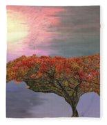 Hawaiian Flame Tree Fleece Blanket