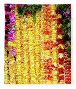Hawaiian Flower Lei's Fleece Blanket