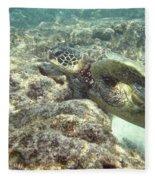 Hawaiian Green Turtle Fleece Blanket