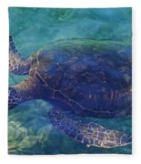 Hawaiian Sea Turtle Fleece Blanket