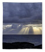 Hawaiian Sunrise Fleece Blanket