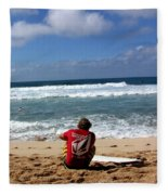 Hawaiian Surfer Fleece Blanket