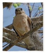 Hawk Gawk Fleece Blanket