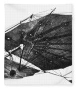 Hawk Glider, 1896 Fleece Blanket
