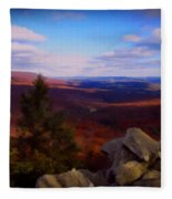 Hawk Mountain Pennsylvania Fleece Blanket