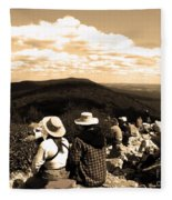 Hawk Mountain In Sepia Fleece Blanket