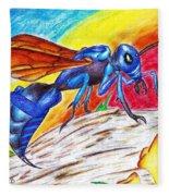 Hawk Wasp Fleece Blanket