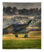Hawker Hurricane Mk 1 R4118 Takeoff Fleece Blanket