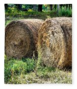Hay Bay Rolls 3 Fleece Blanket