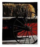 Hay On Wheels Fleece Blanket