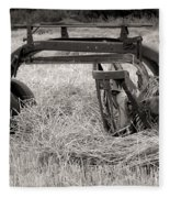 Hay Rake Fleece Blanket