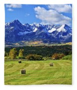 Hay With A View Fleece Blanket