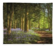 Hay Wood Bluebells 3 Fleece Blanket