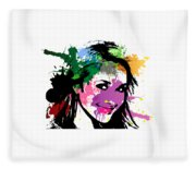 Hayden Panettiere Pop Art Fleece Blanket