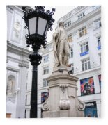 Haydn On Vienna Street Corner Fleece Blanket
