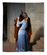Hayez, The Kiss Fleece Blanket