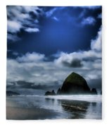 Haystack Rock Fleece Blanket