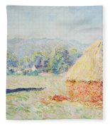 Haystacks In The Sun Fleece Blanket