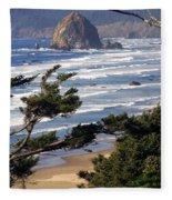Haystak Rock Through The Trees Fleece Blanket