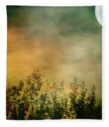 Haze On Moonlit Meadow Fleece Blanket