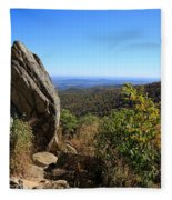 Hazel Mountain Overlook On Skyline Drive In Shenandoah National Park Fleece Blanket