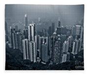Hazy Hong Kong Fleece Blanket
