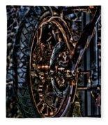 Hdr Liberty Bike Copper Ny Fleece Blanket