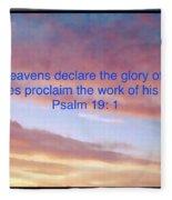 He Created The Heavens  Fleece Blanket