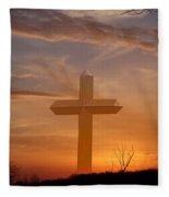 A Cross The Universe Fleece Blanket