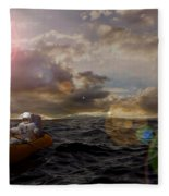 He Who Dared To Care Fleece Blanket