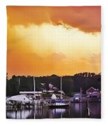 Head For Safety Fleece Blanket