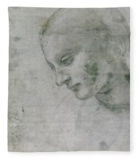 Head Of A Young Woman Or Head Of The Virgin Fleece Blanket