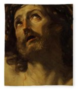 Head Of Christ Crowned With Thorns 1620 Fleece Blanket